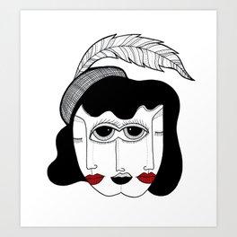 DUPLICITY Art Print
