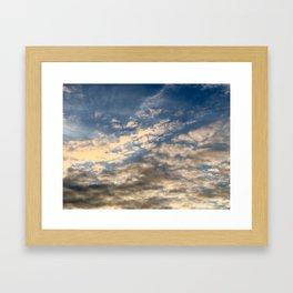 Adirondack Sunset Clouds Framed Art Print