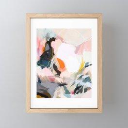 apricot dawn Framed Mini Art Print