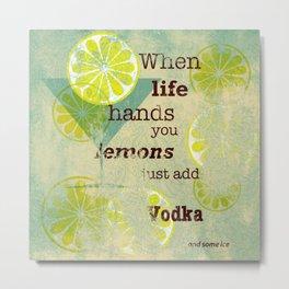 Add Vodka Metal Print