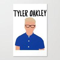 tyler oakley Canvas Prints featuring Tyler Oakley by BethTheKilljoy
