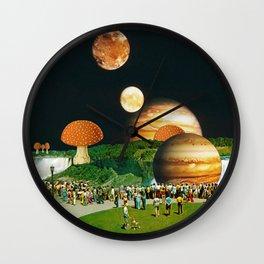 Fungi Waterfalls Wall Clock