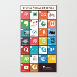 Digital Nomad Lifestyle Canvas Print