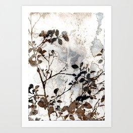 Desaturated Jungle Botanical Art Art Print