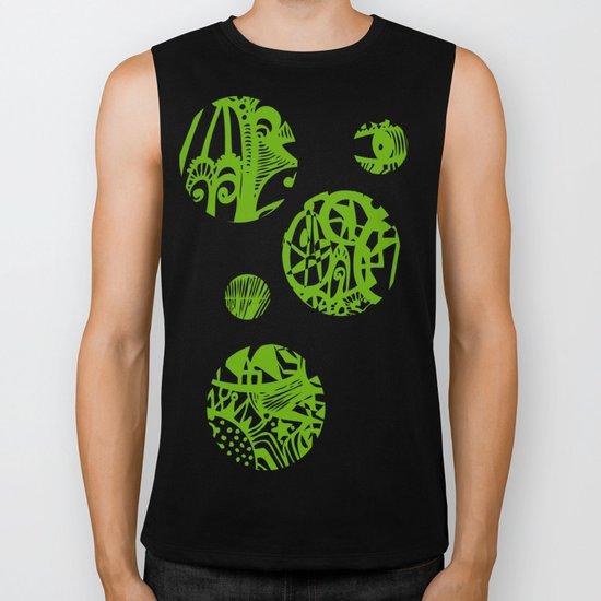 INK#7 Dream in Green Biker Tank
