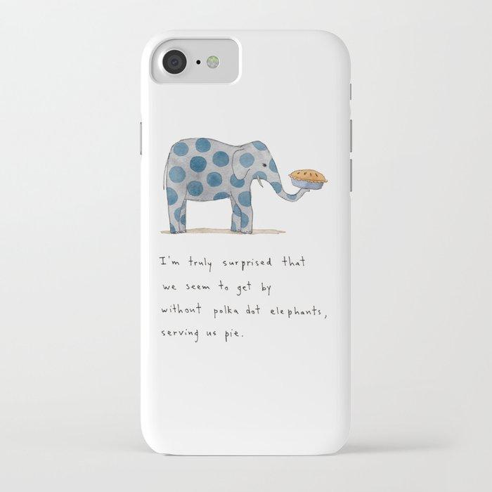 polka dot elephants serving us pie iPhone Case