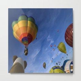 Rainbow balloons Metal Print