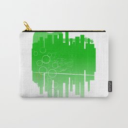 Abstract Green Guitar City Carry-All Pouch