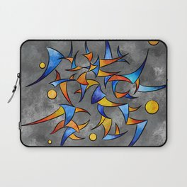 Kelamissa - abstract rounded triangle world expressed in one word Laptop Sleeve