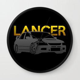 Mitsubishi Lancer Evo Wall Clock