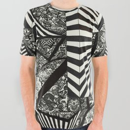 Abstract Void All Over Graphic Tee