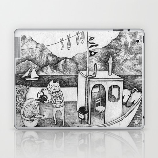 Fox on Fishing-boat Laptop & iPad Skin