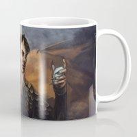 smaug Mugs featuring Smaug by Juli Grey