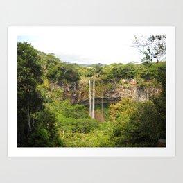 A Glimpse of Paradise on Mauritius Art Print