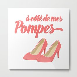 French Pink High Heels Metal Print