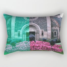 Cracked church... Rectangular Pillow