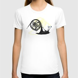 Just moved.  (French Horn) T-shirt