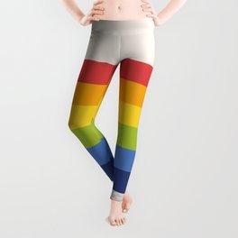 Retro Rainbow Stripe Leggings