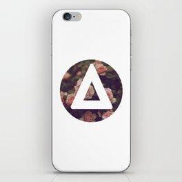 Bastille floral triangle round iPhone Skin