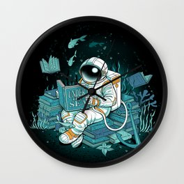 A reader lives a thousand lives - Cosmonaut Under The Sea Wall Clock