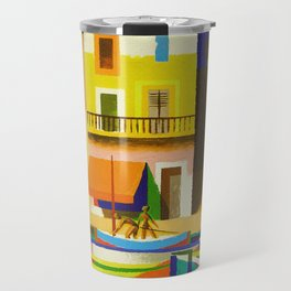 Vintage French Riviera Travel Ad Travel Mug