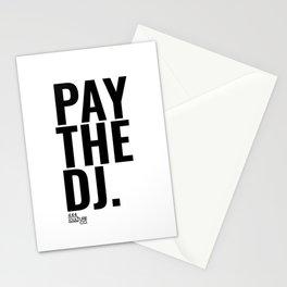 Pay The DJ Stationery Cards