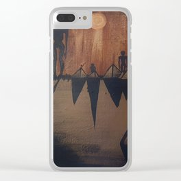 Otherworldly Invasion Acrylic Painting Clear iPhone Case