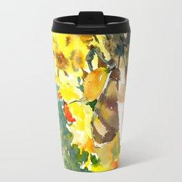 Honey Bee and FLower Travel Mug