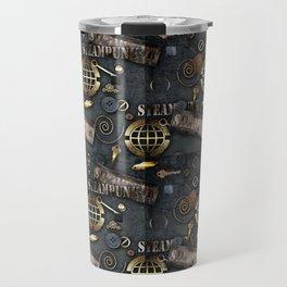 Mechanical steampunk grunge print. Travel Mug