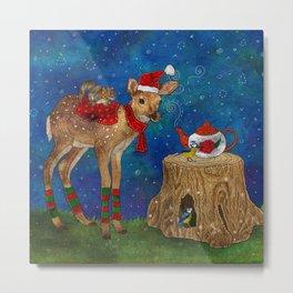 Christmas Tea Party Metal Print