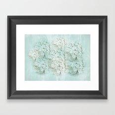 SHADY HYDRANGEAS Framed Art Print