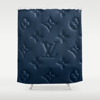 lv Shower Curtains featuring Blue LV by I Love Decor