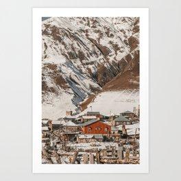 Small Village in Georgia Art Print