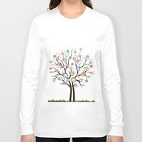 tree of life Long Sleeve T-shirts featuring tree by mark ashkenazi
