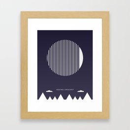Waxing Crescent Moon - Moon Phases Framed Art Print