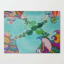 Swirly Canvas Print