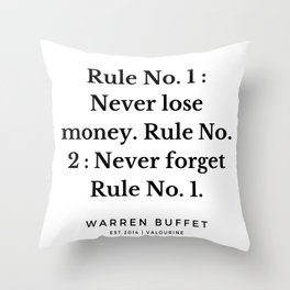 10  | Warren Buffett Quotes | 190823 Throw Pillow