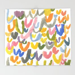 Abstract Letterforms 1 Throw Blanket