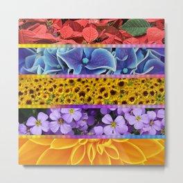 flora tiles Metal Print