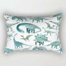 Dinossaurs Watercolor Rectangular Pillow