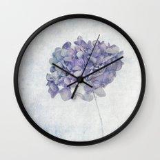 Blue Vintage Hydrangea Wall Clock