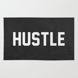 Hustle - black version Rug
