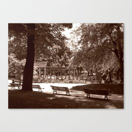 Parc Monceau Canvas Print