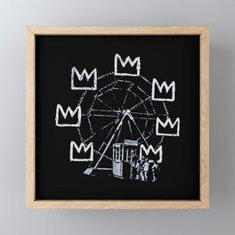 Banksy - Ferris Wheel - Tribute To JMBasquiat Artwork Framed Mini Art Print