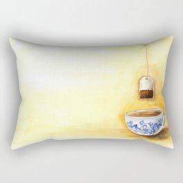 A cup of tea watercolor illustration Rectangular Pillow