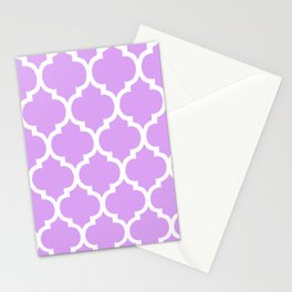 MOROCCAN PURPLE VIOLET AND WHITE PATTERN Stationery Cards