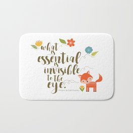 What is essential is invisible to the eye. The Fox. Bath Mat