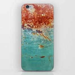 Teal Rust iPhone Skin