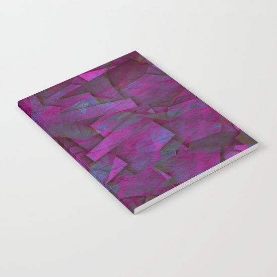 Fragments In Pueple - Abstract, fragmented pattern in purple Notebook