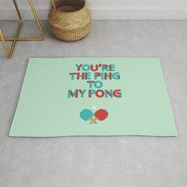 Love is like ping pong Rug